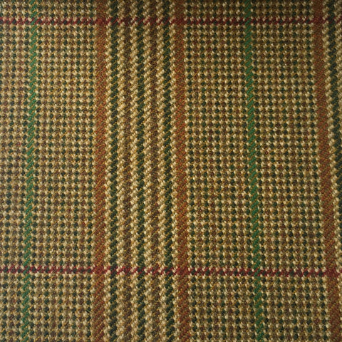 Brown, Gold, Rust And Green Glen Check Country Tweed Jacketing