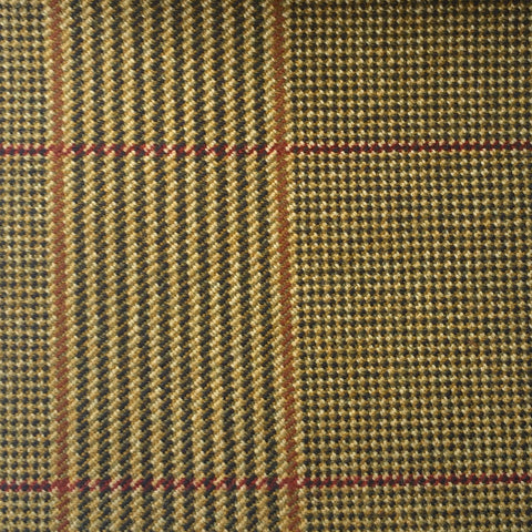 Caramel, Black, Red And Amber Glen Check Country Tweed Jacketing