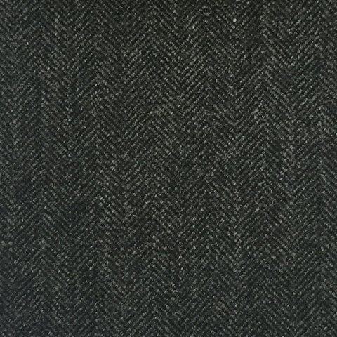 Charcoal Grey Herringbone Country Tweed Jacketing