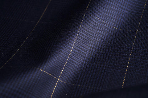 Navy & Black Plaid With 22 Carat Gold Check