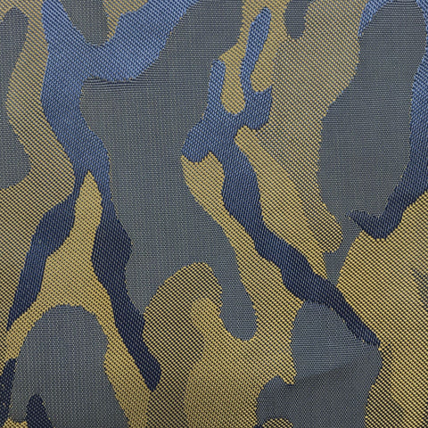 Lilac Blue & Gold Camouflage Lining