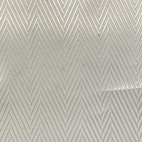 White and Silver Herringbone Lining