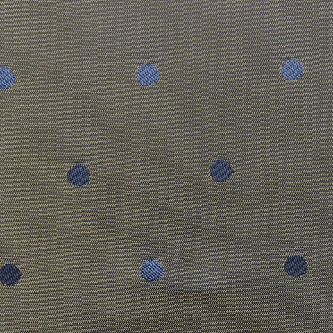Two Toned Gold and Blue Polka Dot Lining