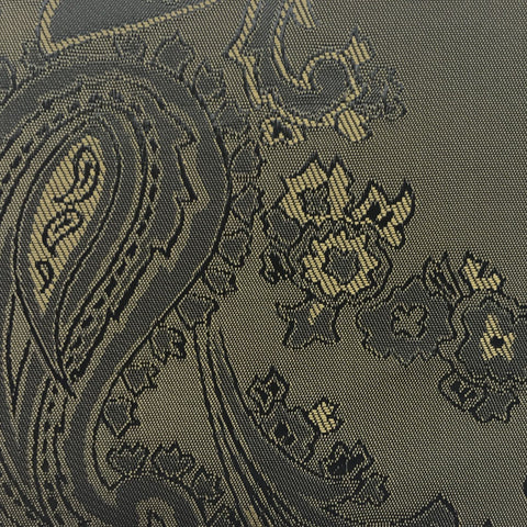 Bronze Brown with Gold jacquard woven paisley design Lining