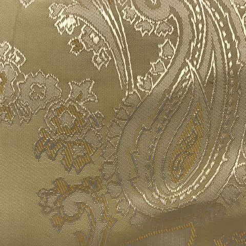 Cream with Gold Jacquard Woven Paisley design Lining