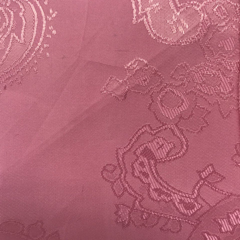 Baby Pink Jacquard Woven Paisley design Lining