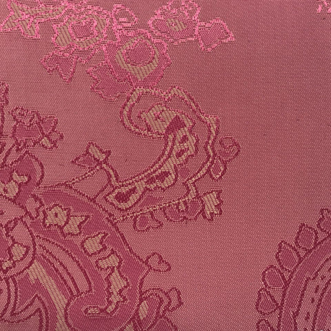 Candy Pink Jacquard Woven Paisley design Lining
