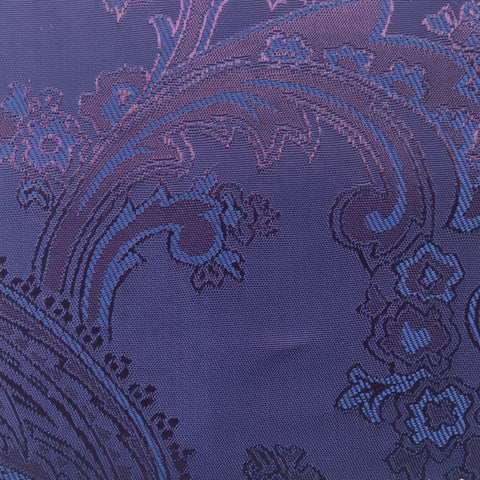 Purple with Blue Jacquard Woven Paisley design Lining