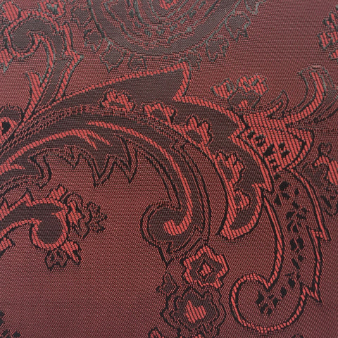 Maroon and Red Jacquard Woven Paisley design Lining