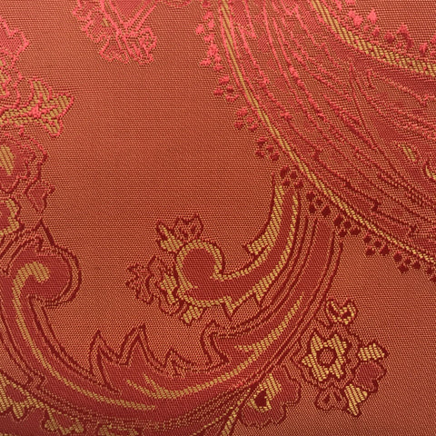 Orange Jacquard Woven Paisley design Lining