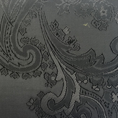 Grey with Black Jacquard Woven Paisley design Lining