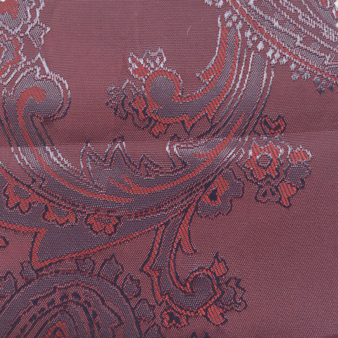 Two toned Purple and Red Jacquard Woven Paisley design Lining