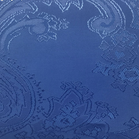 Electric Blue Jacquard Woven Paisley design Lining