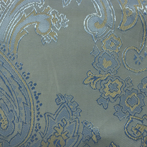 Dusty Blue Jacquard Woven Paisley design Lining
