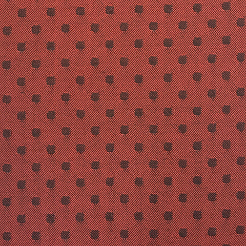 Red & Black Polka Dot Suiting Jacketing Fabric