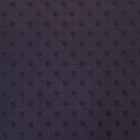 Purple & Black Polka Dot Suiting Jacketing Fabric