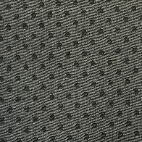 Grey & Black Polka Dot Suiting Jacketing Fabric