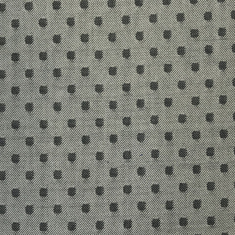 Silver & Black Polka Dot Suiting Jacketing Fabric