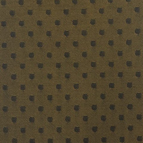 Gold & Black Polka Dot Suiting Jacketing Fabric