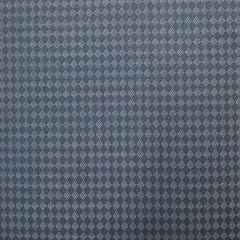 Sea Blue Diamond Tuxedo Weave Suiting Jacketing Fabric