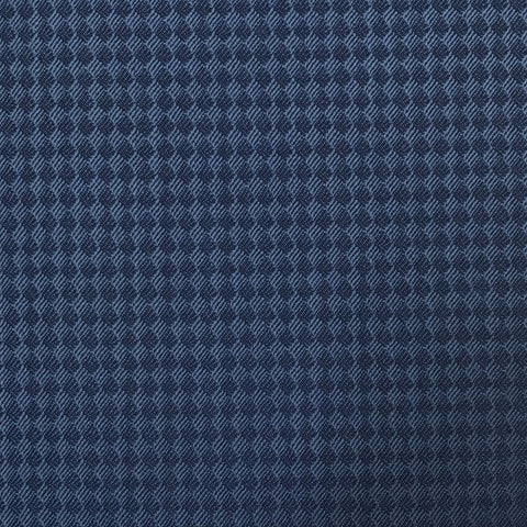 Blue Diamond Tuxedo Weave Suiting Jacketing Fabric