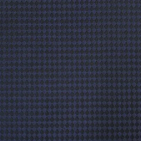 Navy Diamond Tuxedo Weave Suiting Jacketing Fabric