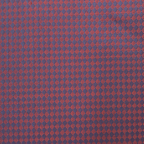 Red & Blue Diamond Tuxedo Weave Suiting Jacketing Fabric