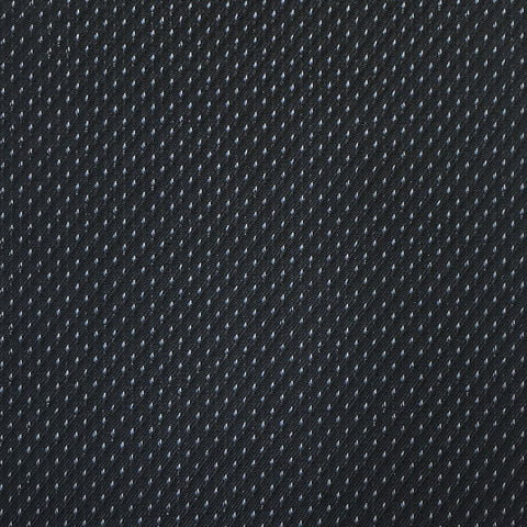 Navy With Fancy Silver & Blue Pin Suiting Jacketing Fabric