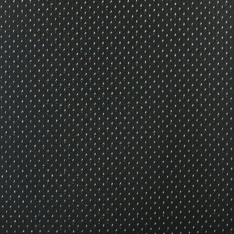 Black With Fancy Silver & Blue Pin Suiting Jacketing Fabric