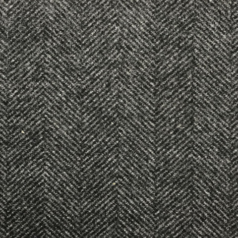 Grey Herringbone Coating All Wool