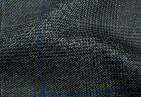 Charcoal Grey Plaid With Black/Navy Overcheck