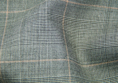 Charcoal Tram Plaid With Blue Pane Check