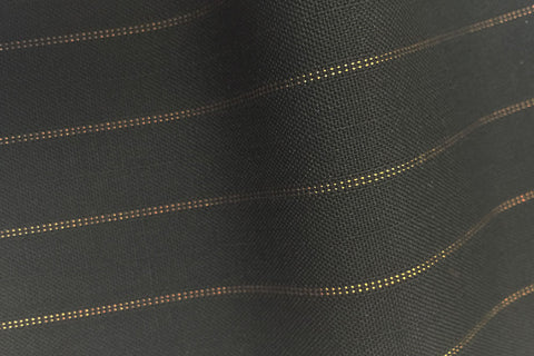 Black With Gold Pin Stripe
