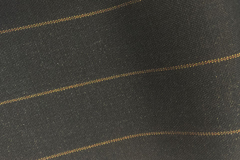 Charcoal Grey With Bronze Wide Pin Stripe
