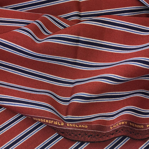 Red With Navy/Blue/White Stripe 3/4'' Jacketing