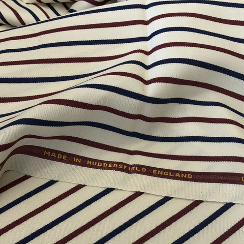 Cream With Red/Navy Stripe 1/2'' Jacketing