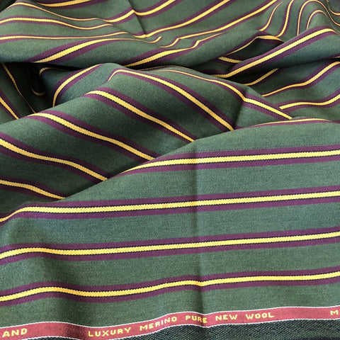 Mulberry Green With Burgundy/Black/Yellow Stripe 3/4'' Jacketing