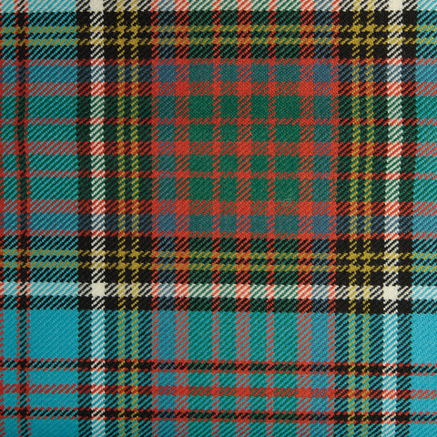 Manzies Black Tharthan Tartan Check 65% Poly 35% Visc