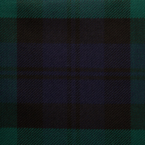 Black Watch Caledonian Tartan Check 100% Wool