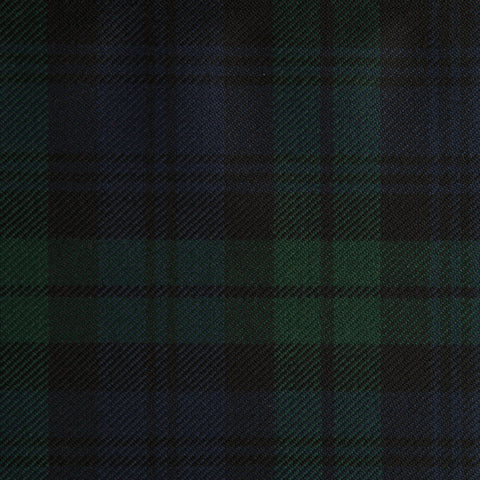Black Watch Dark Caledonian Tartan Check 100% Wool