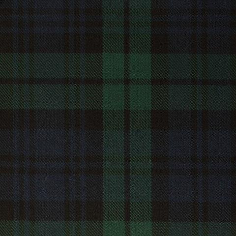 Black Watch Dark Tharthan Tartan Check 65% Poly 35% Visc