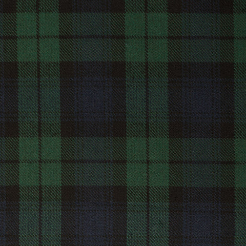 Black Watch Medium Tharthan Tartan Check 65% Poly 35% Visc