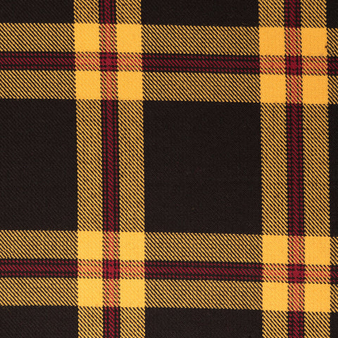 Black Yellow Check Tharthan Tartan Check 65% Poly 35% Visc