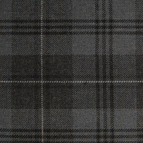 Grey Granite Tharthan Tartan Check 65% Poly 35% Visc
