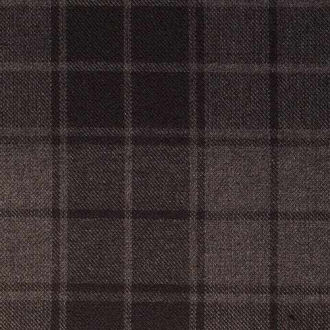 Grey Highlander Tharthan Tartan Check 65% Poly 35% Visc