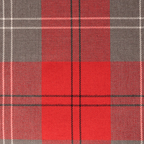 Grey Red Check Tharthan Tartan Check 65% Poly 35% Visc