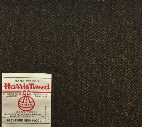 Brown And Moss Green Harris Tweed