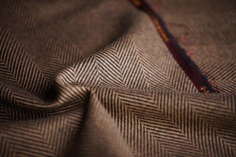 Brown & Black Herringbone 2cm