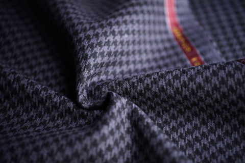 Gun Metal & Black Houndstooth