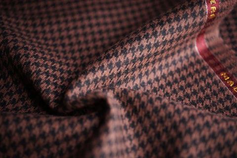 Brown & Black Houndstooth